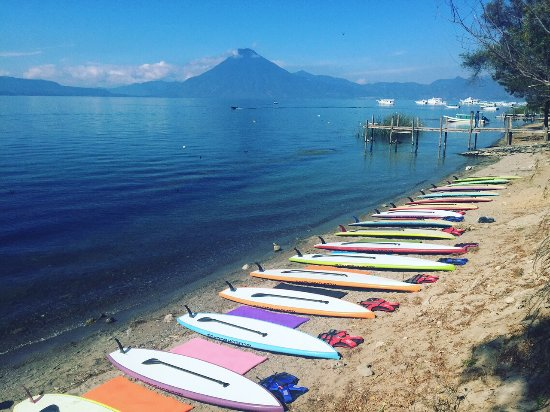 Panajachel, Guatemala:  SUP Yoga, SUP pilates, team building reteats, Bachelorette parties. Come celebrate with Panasuf