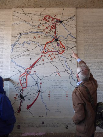 A map of Operation MarketGarden Picture of Netherlands American