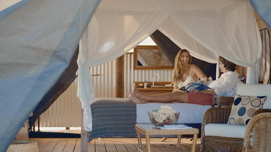 Sal Salis Ningaloo Reef Sal Salis - The Honeymoon Tent & Breakfast on the beach after an early morning kayak - Picture of ...