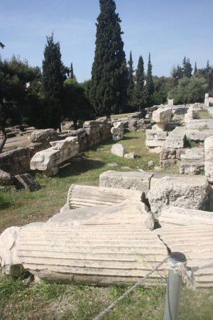 Theater of Dionysus : Ruins of the theatre's back walls