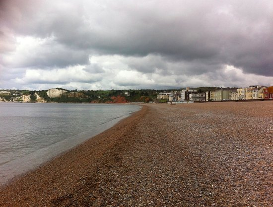 Beach in Seaton, close to the b and b