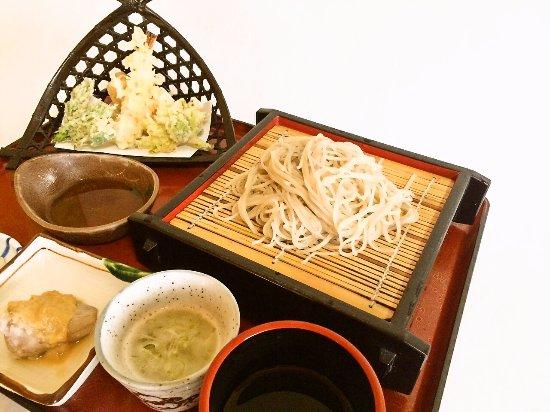 Aizubange-machi, Japan: 天ざる蕎麦