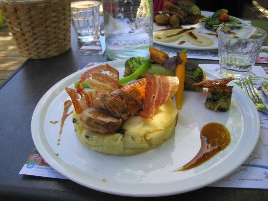 Cabrerets, Francia: Pork dish