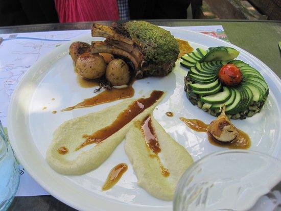 Cabrerets, Francia: Lamb dish