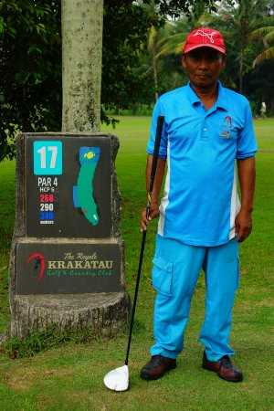Cilegon, Indonesia: My caddy for the round