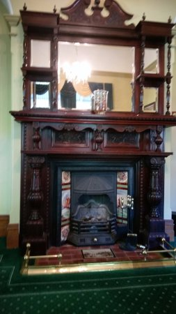 Ormiston House: One of two magnificently carved wooden fireplaces (in dining rooms)