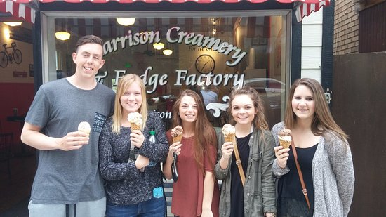 Harrison Creamery - Serving Smiles to High School Seniors one scoop at a time
