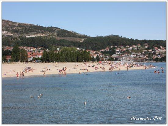 Moaña, España: playa de la junquera a 5 min caminando