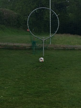 St Austell, UK: Our time playing football golf