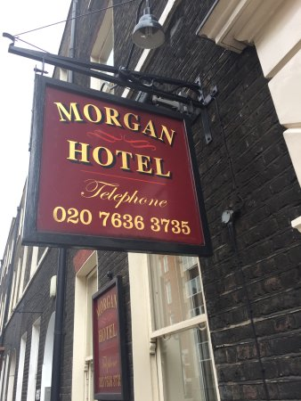 Morgan Hotel: Hotel sign at entrance