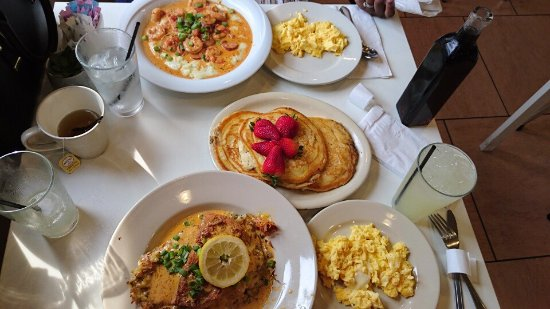 Beltsville, MD: Amazing shrimp and grits, salmon hash, pancakes and eggs. I could eat here everyday.