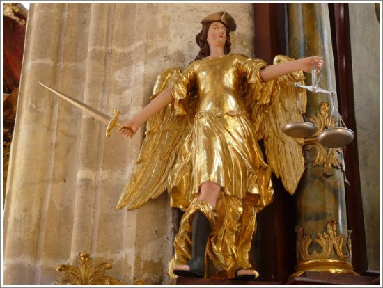 Krems an der Donau, Austria: figure of Saint MIchael
