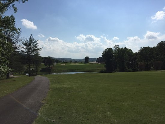 Rutherfordton, NC: Top of hill looking to No. 18 Green