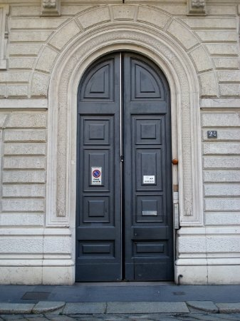 Casa Rigamonti: Portale d'ingresso