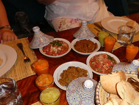 Riad Altair: Part of the meal we cooked at the Morrocon Culinary Experience