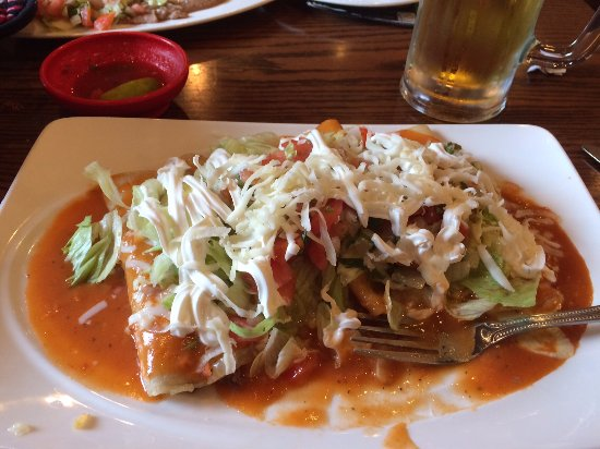 Livonia, MI: Four enchiladas with different fillings
