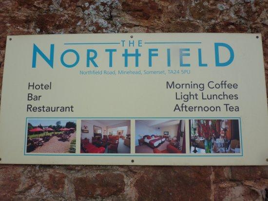 Northfield Hotel: hotel sign