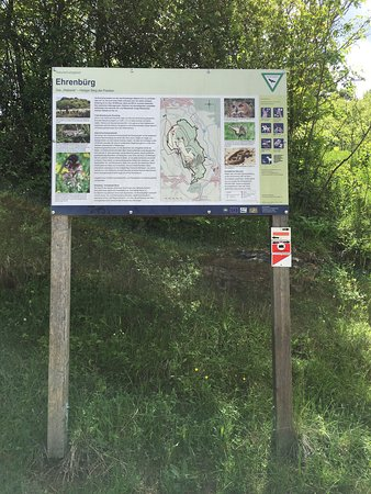 Forchheim, Germany: Clear direction signs and sight descriptions posted along the trails