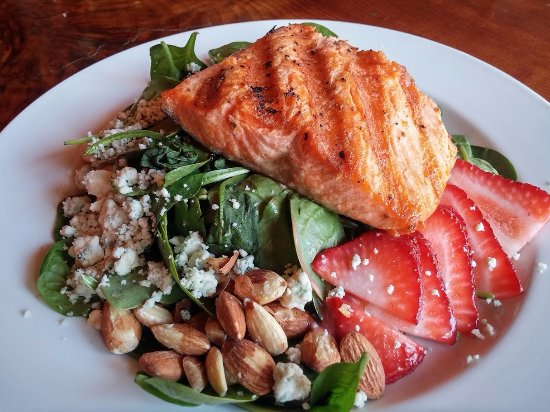Springfield, OR: Strawberry Salmon Salad Special