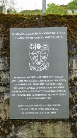 Isle of Jura, UK: Clan Shaw - taken on our island tour