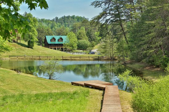 Stocked fishing pond little valley mountain resort for Stocked fishing ponds