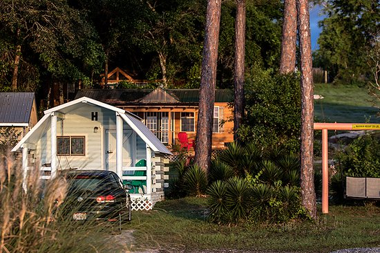 Lillian, AL: Sunup at the bayside cabins.