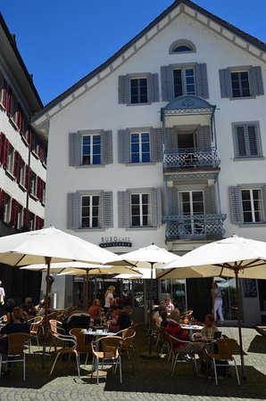 Burgcafe: cafe is in a lovely square so lots to watch as you eat