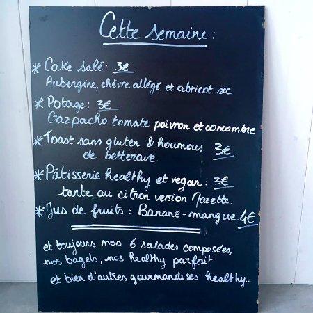 Saint Aunes, Francia: Exemple de menu de la semaine
