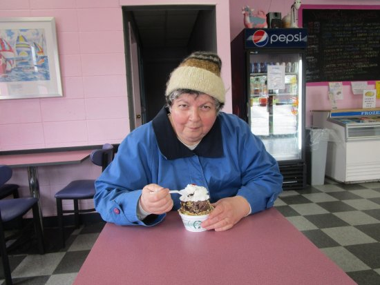 Johnston, Род Айленд: That is me eating my ice cream sundae.