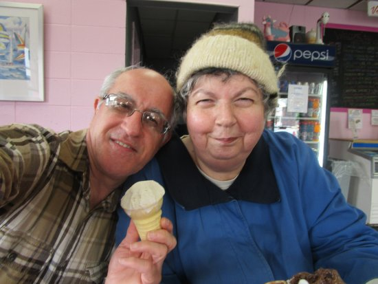 Louis and I at Sundaes Johnston, R.I.