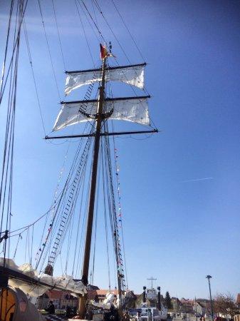 Greifswald, Tyskland: Weisse Düne neue Segel