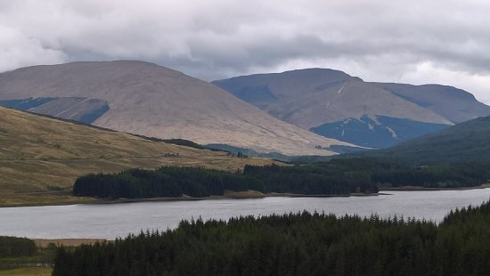 Arrochar, UK : view over loch tulla on our way to fort William