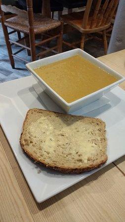 Innerleithen, UK: Lentil soup