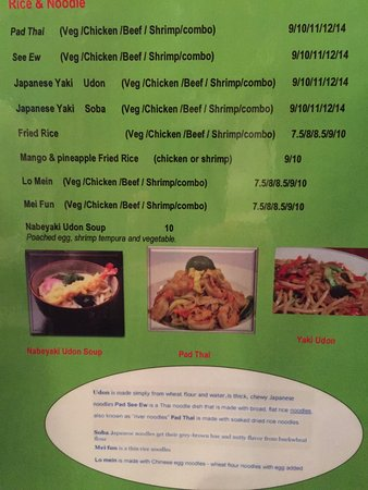 Smithfield, VA: Rice and Noodle DishesMenu