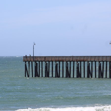 View of the Cayucos pier from balcony