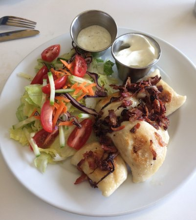 Port Dover, Canada: Perogies & Salad, Lunch Special