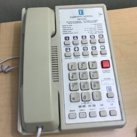 San Rafael, CA: This phone was actually in my room. It didn't work and was so dirty I was shocked.