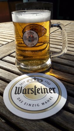 The Warsteiner Herb (alcohol-free beer) experience ... prosit !