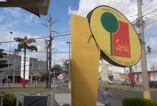 Churrascaria Jatoba: Boa localização