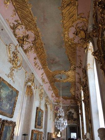 Sanssouci Palace: ornate ceiling