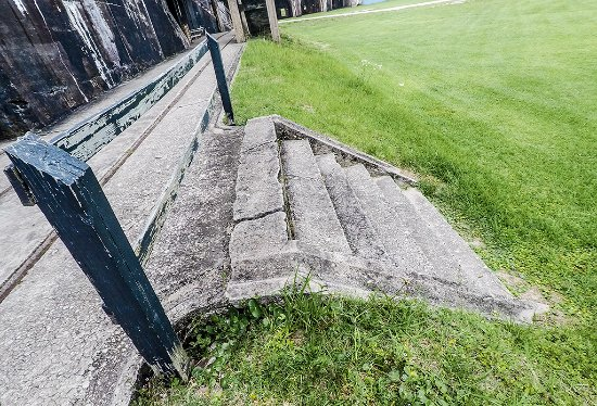 Fort Morgan, AL: Probably the original steps! They just don't build 'em like that anymore.