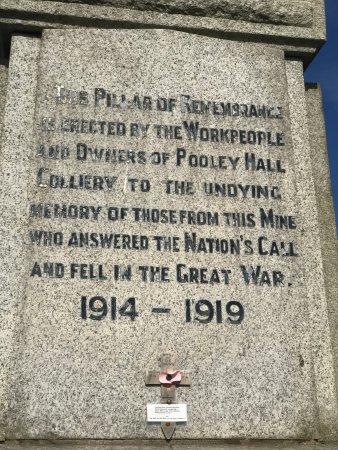 Polesworth Pooley Hall Colliery War Memorial