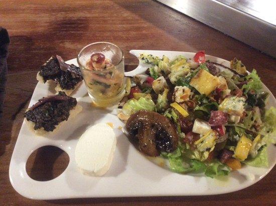 Molitg-les-Bains, França: Assiette du chef vege. a la demande