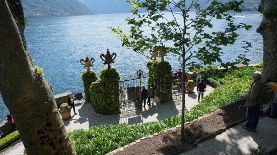 Villa del Balbianello: L'attracco del taxi acquatico