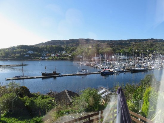 View of Tarbert Harbour from our room