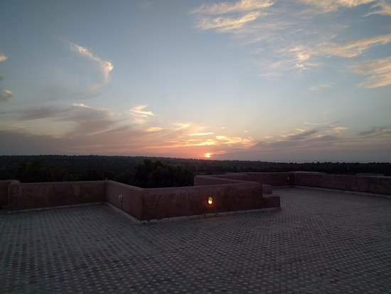 Ghazoua, Morocco: Sunset from our terrace