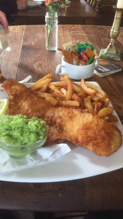 Maryport, UK: Fish and chips