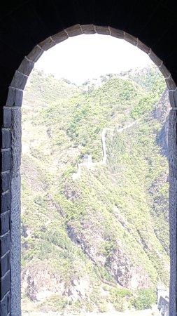 Great Wall at Huangya Pass (Huangyaguan Changcheng): View from a turret