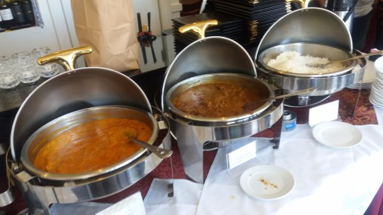 Woburn, MA: Butter chicken, goat, rice