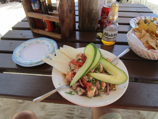 Oxtankah : Shrip and octopus ceviche